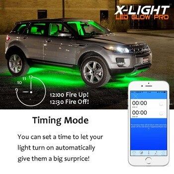 Luces De Neón De La Motocicleta   X-LIGHT Azul Tooh Color LED Luz De La Motocicleta De Cromo Pod Kit De Bicicleta Kit De Iluminación 18 Piezas 108 LEDs Turn Señal Función
