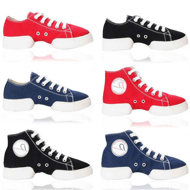 New Canvas Dance Sneakers Low/High Upper Girls Teenagers Men Street Dance Shoes Jazz Dance Shoes Split Soles Excercise Shoes
