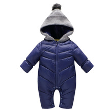 Autumn Winter Newborn Baby Romper Duck Down Cotton Infant Snowsuit Hooded Boys Girls Jumpsuit Waterproof Crawling Clothes
