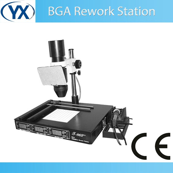 2016 Infrared Welding Technology SMT SMD <font><b>BGA</b></font> <font><b>Rework</b></font> <font><b>Station</b></font> T862++ <font><b>Automatic</b></font> PCB Machine image