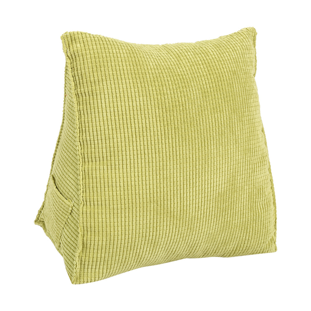Bed chair backrest - W 1pcs Triangular Backrest Pillow For Bed Practical Sofa Cushion With Filler Home Decor 8 Colors