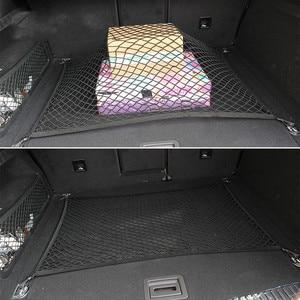 Image 3 - Opel Astra J için G H Zafira B Corsa D Insignia Mokka otomatik araba bakımı bagaj depolama kargo organizatör naylon elastik örgü Net
