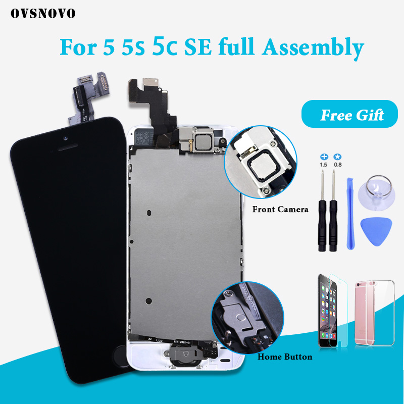 Complete LCD Full Assembly Screen for iPhone 5 5S 5C SE 6 lcd Display Replacement Touch Digitizer with Home Button+Front Camera image