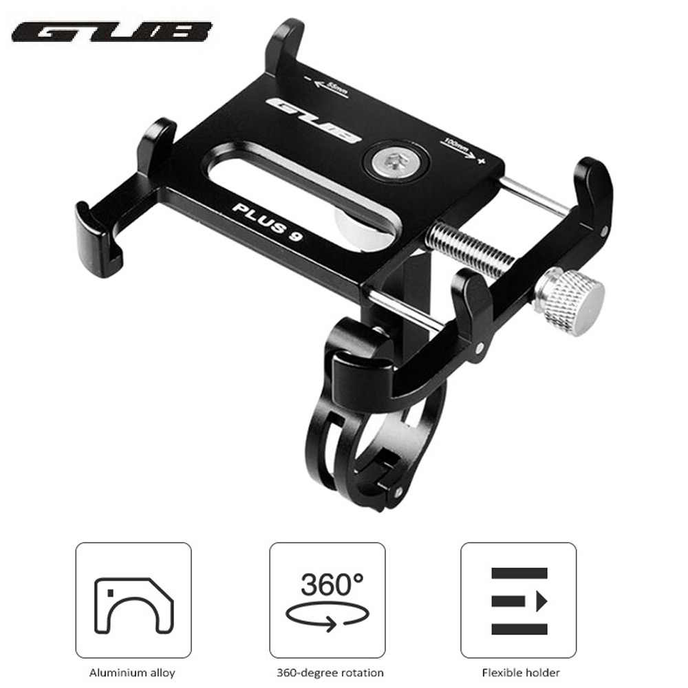 GUB PLUS 9 / G - 85 Alloy Universal 360 Degree Rotatable Cell Phone Holder Bicycle Mount Handlebar for for 3.5-6.2in Phones