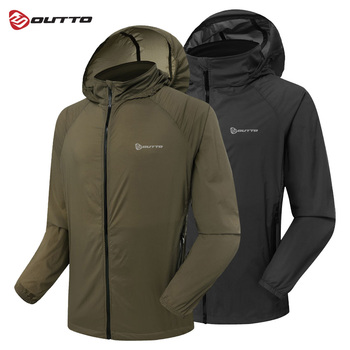 Outto Men's Cycling Jacket Windproof Outdoor Sports Skin Jackets Breathable Waterproof Anti-UV Bike Bicycle Windbreaker