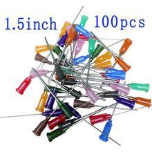 Syringe Dispensing Needles 14G,15G,16G,18G,20G,21G,22G,23G,25G,27G With Luer Lock,Blunt Tip,1.5 Inch Length,100 PCS/Bag tt 14g 27g 1000pcs bag dispensing needles blunt glue liquid dispenser dispensing needle plastic tapered tips