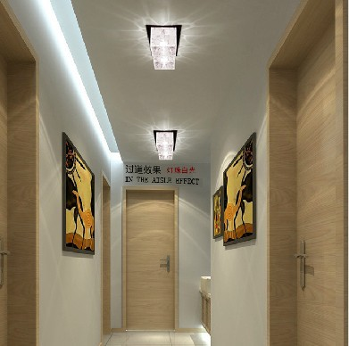 colorpai 2w crystal ceiling lamps corridor light hallway. Black Bedroom Furniture Sets. Home Design Ideas