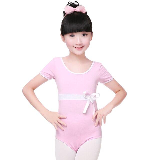 4fdaff589 New Summer Spring Children Girls Short Sleeve Bow Ballet Dance ...