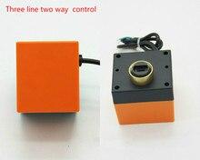 Küresel vana aktüatör küresel vana elektrik küresel vana coil denetleyici Üç hat İki yönlü kontrol AC220 AC24V DC24 DC12V