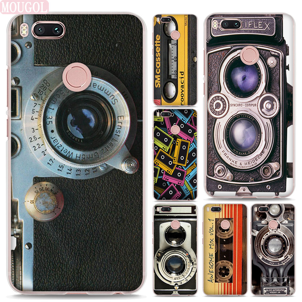 MOUGOL Vintage Camera audio tape design hard clear Phone shell Case for Xiaomi Mi A1 5X 6 5s for Redmi 5A 4X Note4X 5Plus
