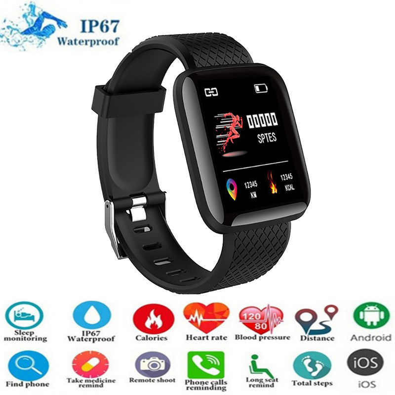 116plus Smart Watches Men Heart Rate Monitor Blood Pressure Women Fitness Tracker Smartwatch Sport Wrist Watch For IOS Android
