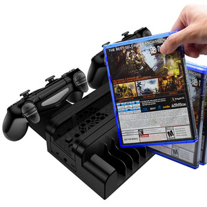 Image 5 - Ładowarka PS4/PS4 Slim/ PS4 Pro podwójna ładowarka kontrolera konsola pionowe stanowisko chłodzące stacja ładowania Playstation 4 wysoka jakość