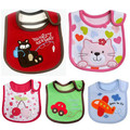 1pc Baby Girl Boy Towel Saliva Waterproof New Kids Cartoon Pattern 3 Layer Toddler Lunch Bibs Burp Cloths