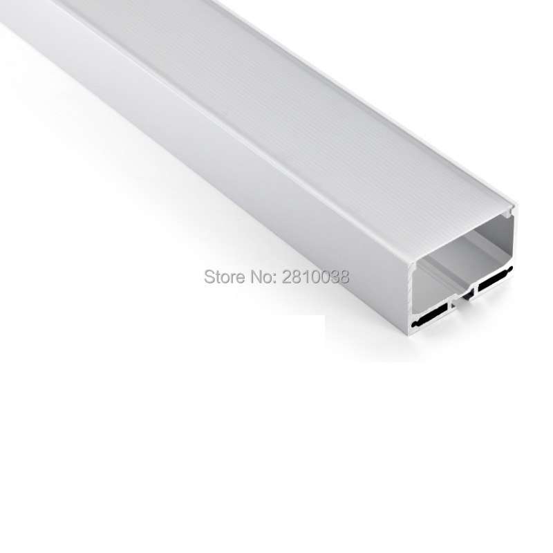 50 X 1M Sets/Lot Factory price aluminum profile for led light and Big U channel for ceiling or Pendant lights