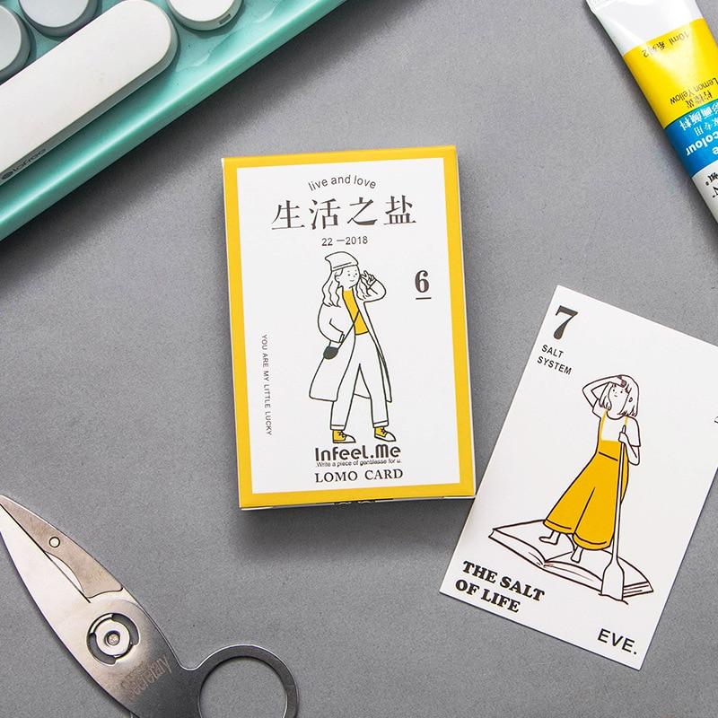 28 Sheets/Set Life Is Like Salt Mini Lomo Postcard/Greeting Card/Birthday Letter Envelope Gift Card