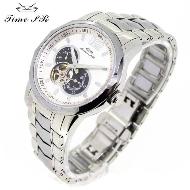 db94f0b44058d JIME PR relógio mecânico relógio automático relógios dos homens de cristal  de safira dos homens relógios