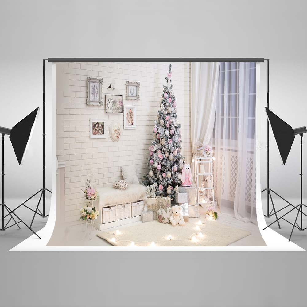 kate white family photo backgrounds christmas with window curtains