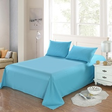 100 cotton Flat Sheet solid color Queen King Size Bed Sheets Bedding Bed Sheet Mattress Cover