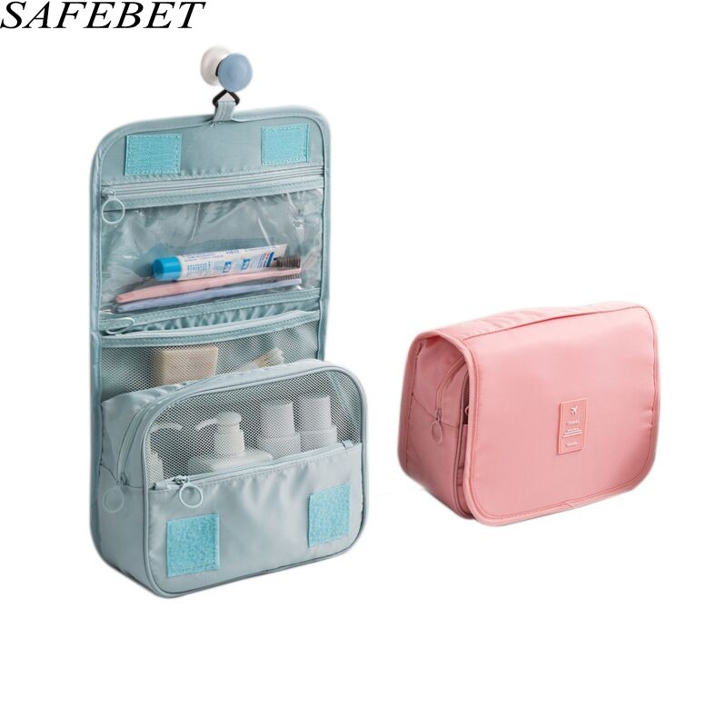 SAFEBET Brand Large Waterproof Makeup bag Travel Beauty Cosmetic Bag Women Men Organizer Case Necessaries Make Up Toiletry Bag elegant business men toiletry bag travel organizer cosmetic bag necessaries