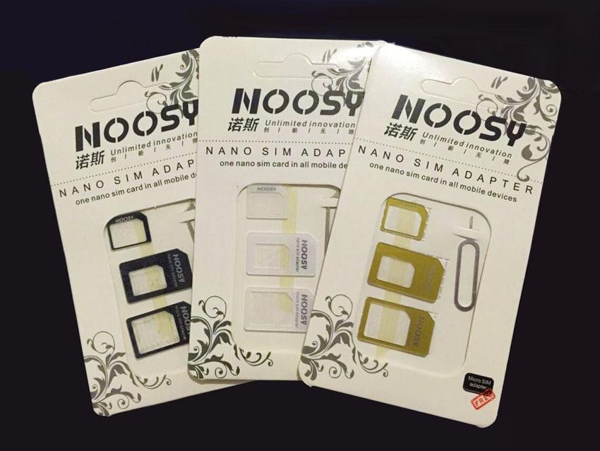 4 in 1 Nano Sim Card Adapters+Micro Sim+Stander Sim Card SIM Card & Tools For Huawei P8 Lite Honor 7 6 9 P7 P6 P9 Mate 8 7 S