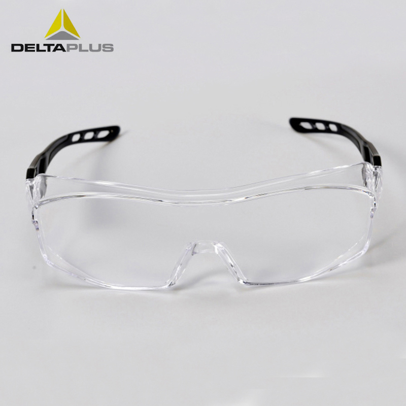 Deltaplus Protective Glasses Transparent Goggles Anti Dust Windproof Eyewear Lab Working Anti-impact PC Lens Safety Eyeglasses