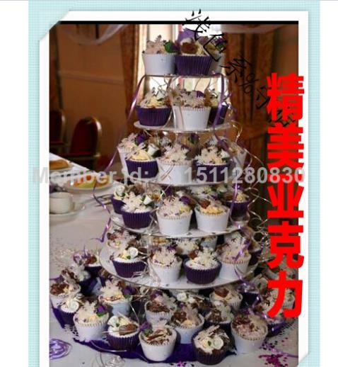 Parti événement fournitures 6 niveau traite tous les le cadre Gâteau plaque de collations appareil acrylique rack champagne cupcake stand décoration