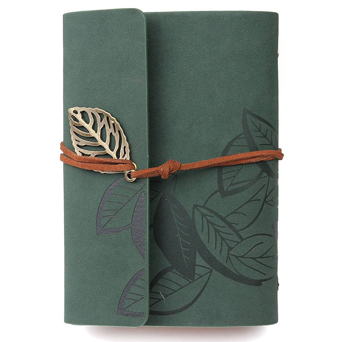 Diary notebook vintage style leather greenDiary notebook vintage style leather green