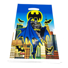 20pcs Batman Theme Plastic Candy Bags Gift Birthday Party Decorations Loot