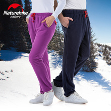 Naturehike outdoor fleece pants men women sports camping hiking lovers trousers spring autumn winter Tourism fleece pants