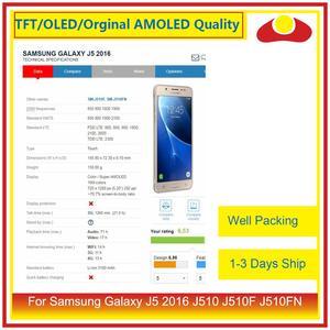 Image 2 - 50 adet/grup DHL Samsung Galaxy J5 2016 J510FN J510F J510G lcd ekran Ile dokunmatik ekran digitizer Paneli Pantalla Komple