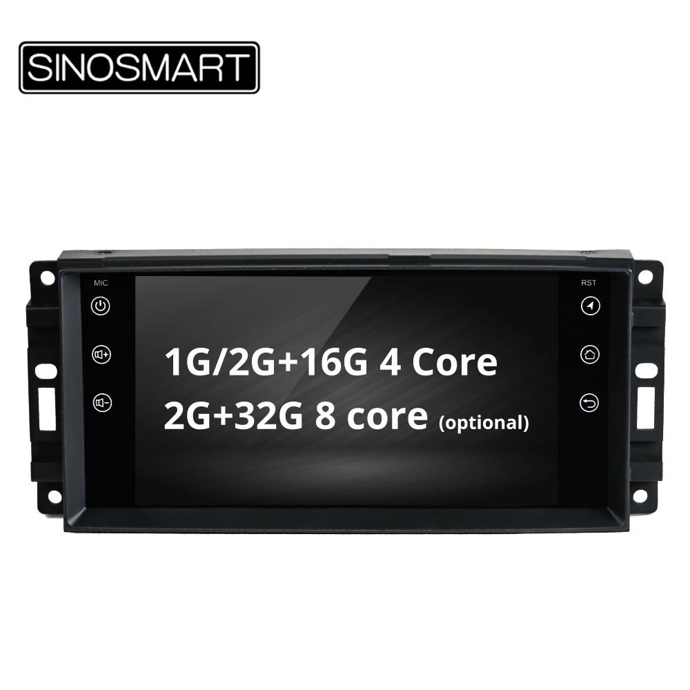 SINOSMART 4 Core/8 Core CPU, 2G RAM Car GPS Navigation for Dodge Grand Caravan Caliber Jeep Commander Patriot Chrysler Sebring-in Car Multimedia Player from Automobiles & Motorcycles    1