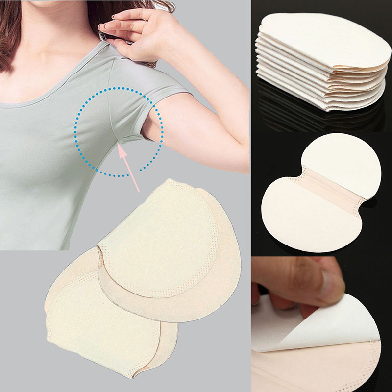 20Pcs Armpits Sweat Pads For Underarm Gasket Sweat Absorbing Pads For Armpits Linings Disposable Anti Sweat Stickers 10pair