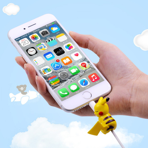 Image 5 - CHIPAL חמוד ביס בעלי החיים המותח כבל עבור iPhone USB נתונים כבל מגן חוט ארגונית Chompers קריקטורה עקיצות בובת דגם מחזיק