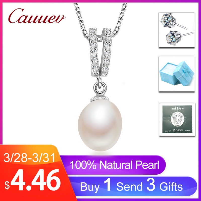 925sterling silver necklace pendant for women genuine 100% real AAAA high quality Natural freshwater pearl pendant  jewelry8-9mm925sterling silver necklace pendant for women genuine 100% real AAAA high quality Natural freshwater pearl pendant  jewelry8-9mm