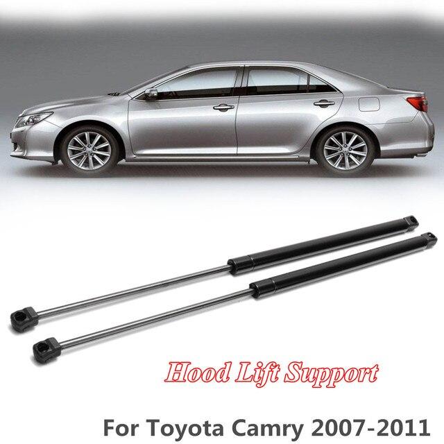 Par de capucha de elevación de Gas apoyo Shock puntal bares amortiguador 720mm barra de apoyo brazo 29024 para Toyota/Camry 2007 -2011