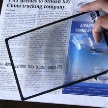 Xinxiang ультратонкое увеличительное стекло 3X стекло es Лупа 180X120 мм A5 плоский ПВХ лист-Лупа Книга Страница Лупа Стекло