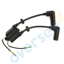 OVERSEE Boat Motor 65W-85570-01 65W-85570-00 Ignition Coil for Yamaha Outboard Engine Motors 4-Stroke