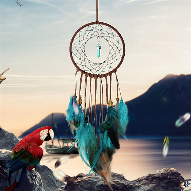 New Weddings Decoration Party Diy Handmade Dream Catcher With Purple Feather Dreamcatcher Home Wall Decor