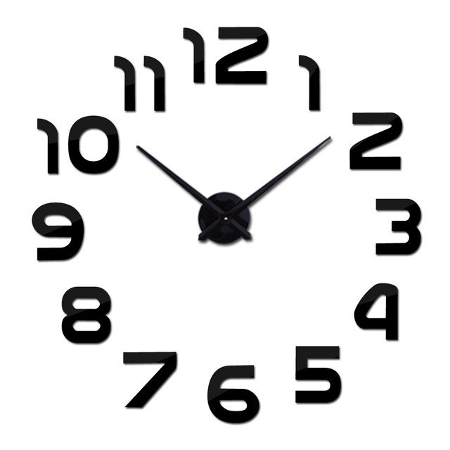 new wall clock watch clocks reloj de pared home decoration 3d acrylic special wall sticker Living Room Needle