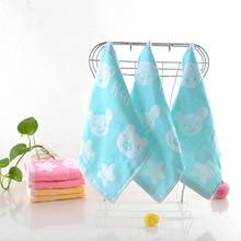 25x25cm Breathable Happy Bear Stars Newborn Baby Muslin Square Towels