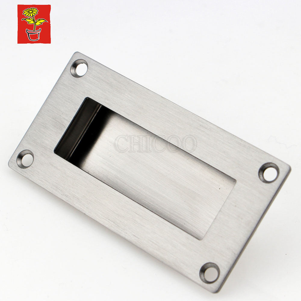 Stainless Steel Square Conceal Cabinet Handles Kitchen Pull Handle For Cabinets Office Furniture Hardware Dresser Pulls Flush 2pcs set stainless steel 90 degree self closing cabinet closet door hinges home roomfurniture hardware accessories supply