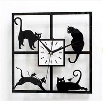 2016 neue quarz acryl wanduhr reloj de pared horloge vintage duvar saati große dekorative uhren aufkleber kostenloser versand