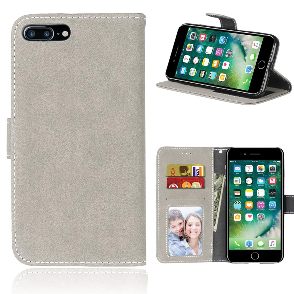 Premium Wallet Flip Magnetic PU Leather Pouch Soft Cover Case For Apple iPhone 7 Plus Stand Card Holder Phone Bag Funads Coque
