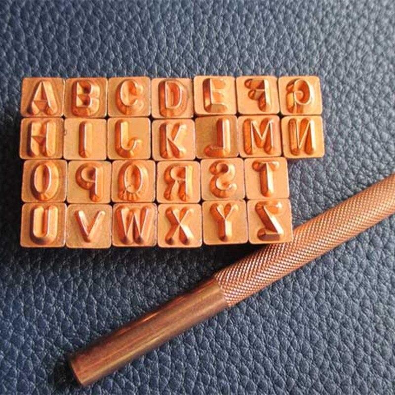 Acheter En cuir Outils Traitements Artisanat En Cuir de travail DIY impression en laiton lettre de l'alphabet de leather letters fiable fournisseurs