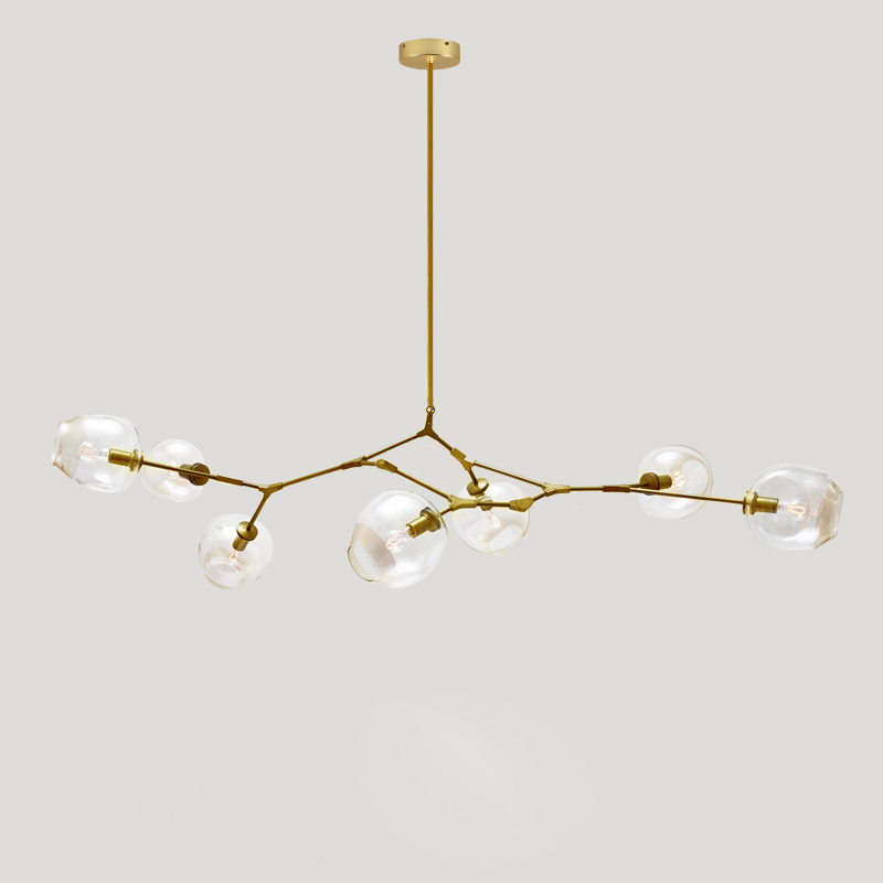New Arrivals Moden Novelty Glass Shade Lighting Lamp Fixtures Vintage Loft Industrial Chandelier Lights Gold Bar Dining Room Lights & Lighting Ceiling Lights & Fans
