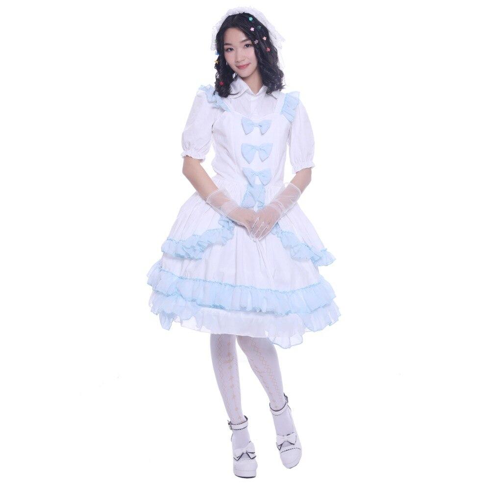 Robe Lolita ronde à couches en dentelle robe de bal Lolita Channel robe Lolita à couches comprenant la robe et le couvre-chef