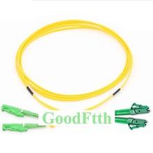Cables de conexión de fibra E2000/APC LC/APC SM dúplex GoodFtth 1 15m