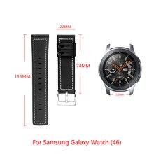 Кожаный браслет для samsung galaxy watch (46) сменный ремешок