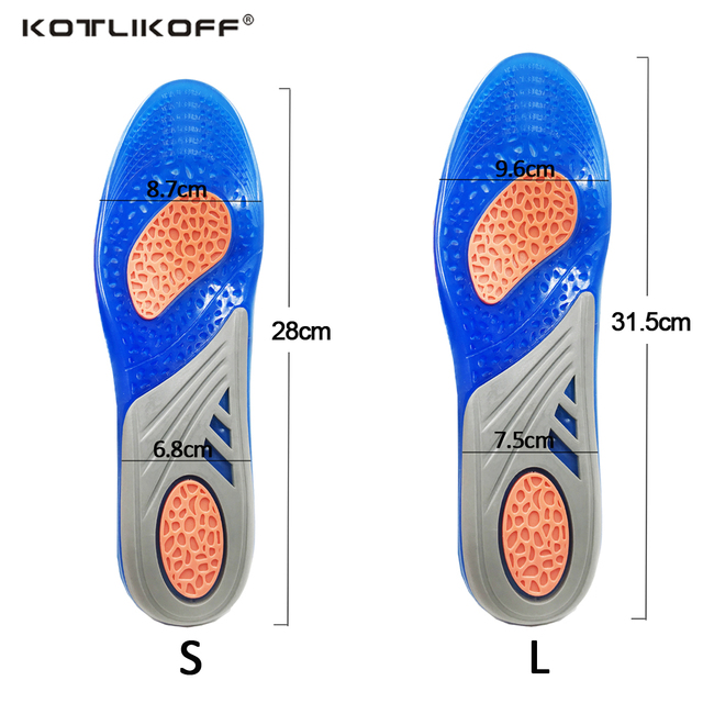 Silicone Gel Insoles Orthopedic Massaging Shoe Inserts Sports Shock Absorption Shoe Pad Comfortable For Men Women Shoes Insole 5