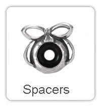 ∞<b>925</b> стерлингового серебра Spacer из бисера с камнями Камни ...